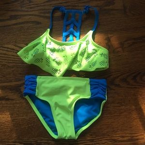 Justice two piece bathing suit